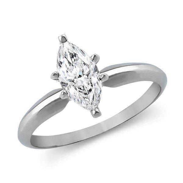 1.09 CT Marquise Cut Diamond 18K Gold Ring EGL Cert