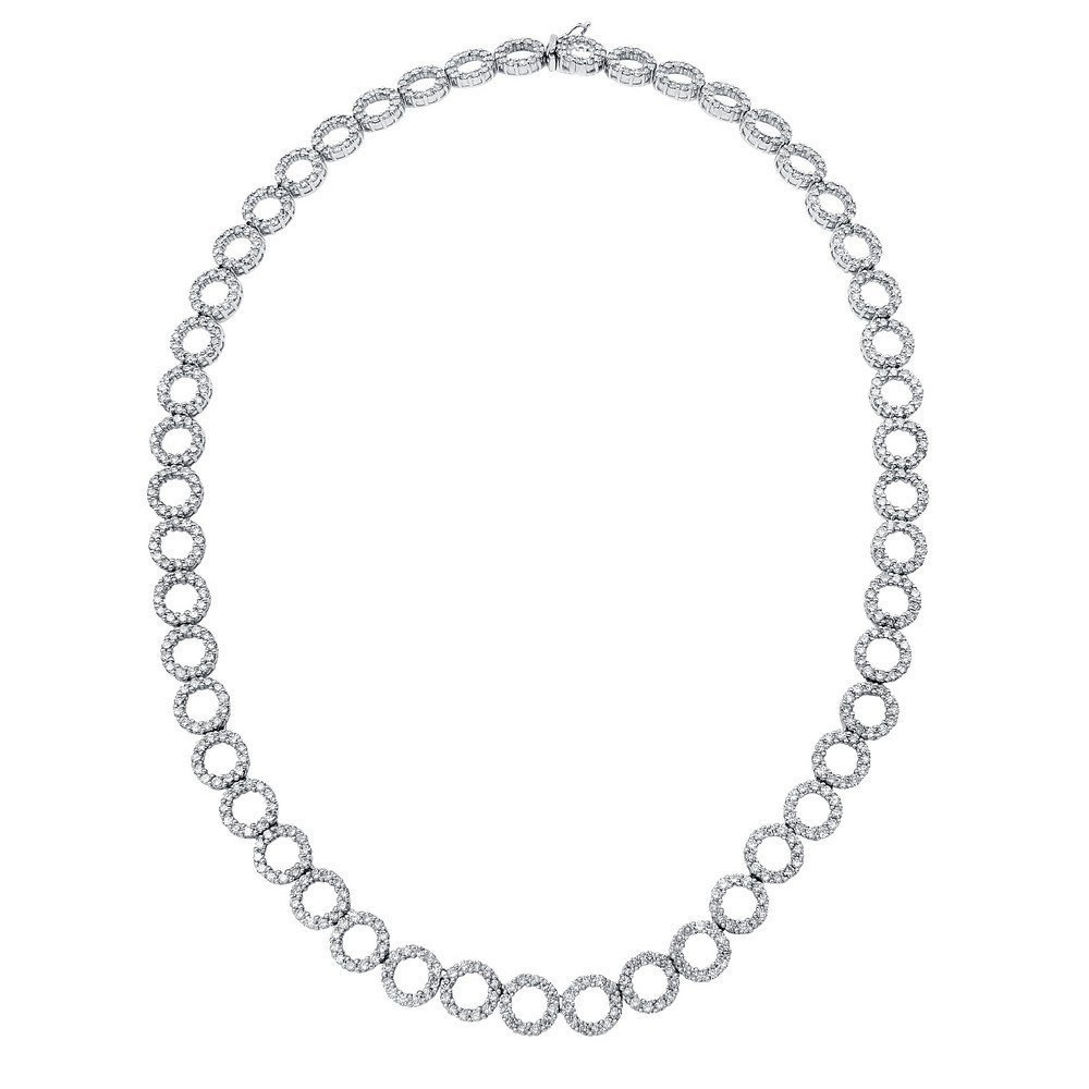 12.86 CTW 18K White Gold Ladies Necklace