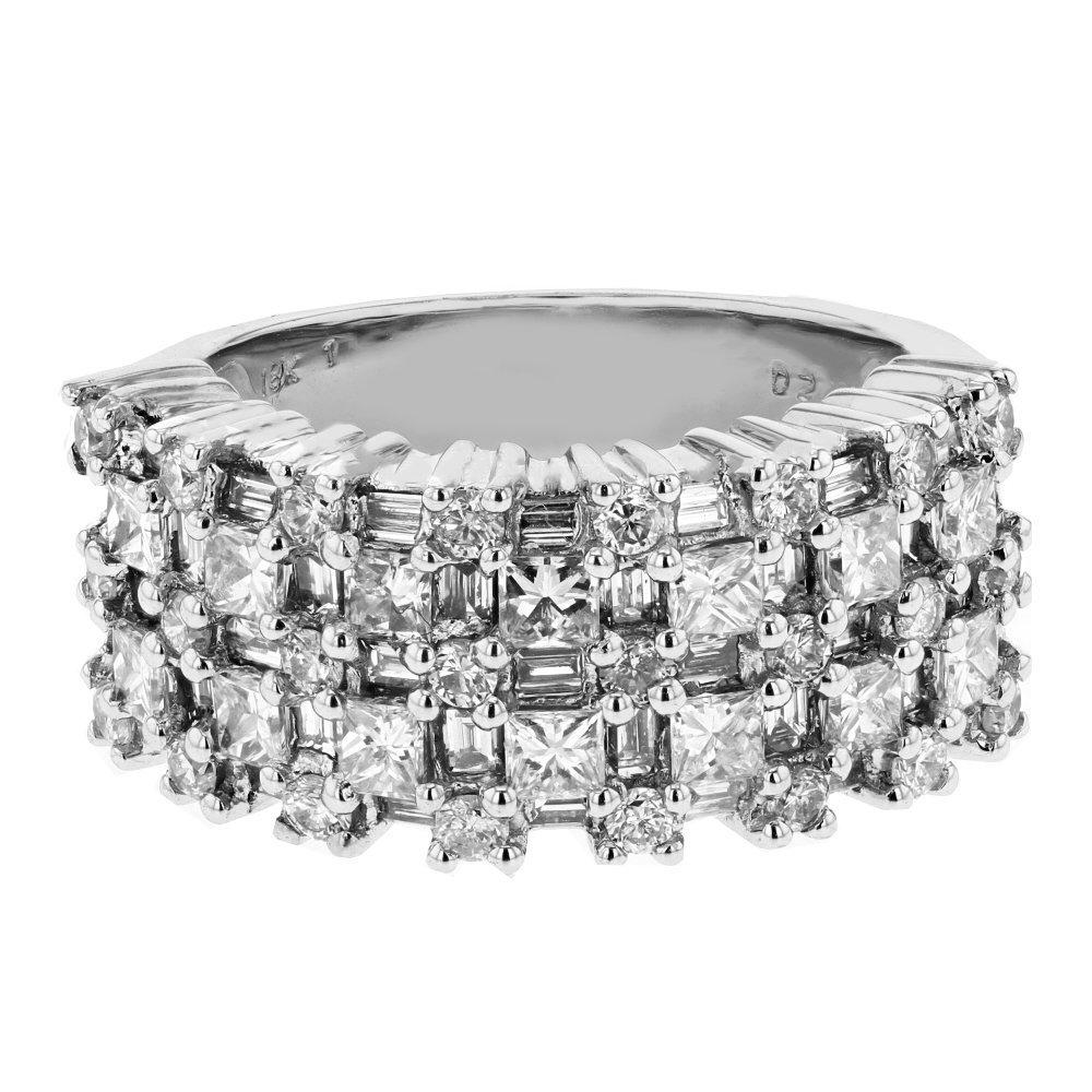 2.45 CTW 18K White Gold Ladies Ring