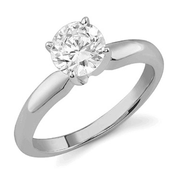 1.02 CT Round Cut Diamond 18K Gold Ring EGL Cert