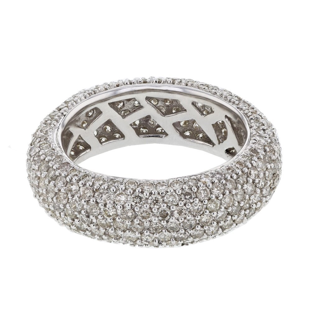Wide Eternity Pave-set Diamond Band in 14K White Gold