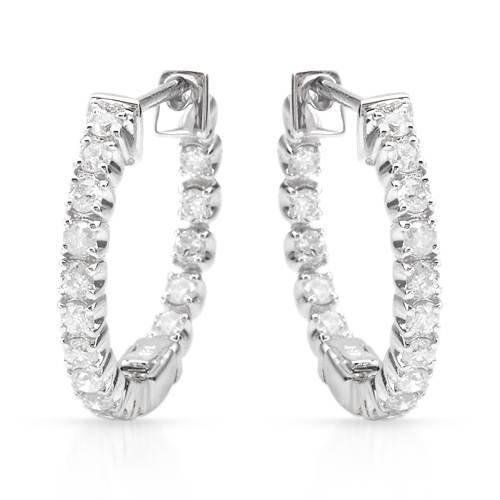 1.07 CTW 14K White Gold Ladies Earring