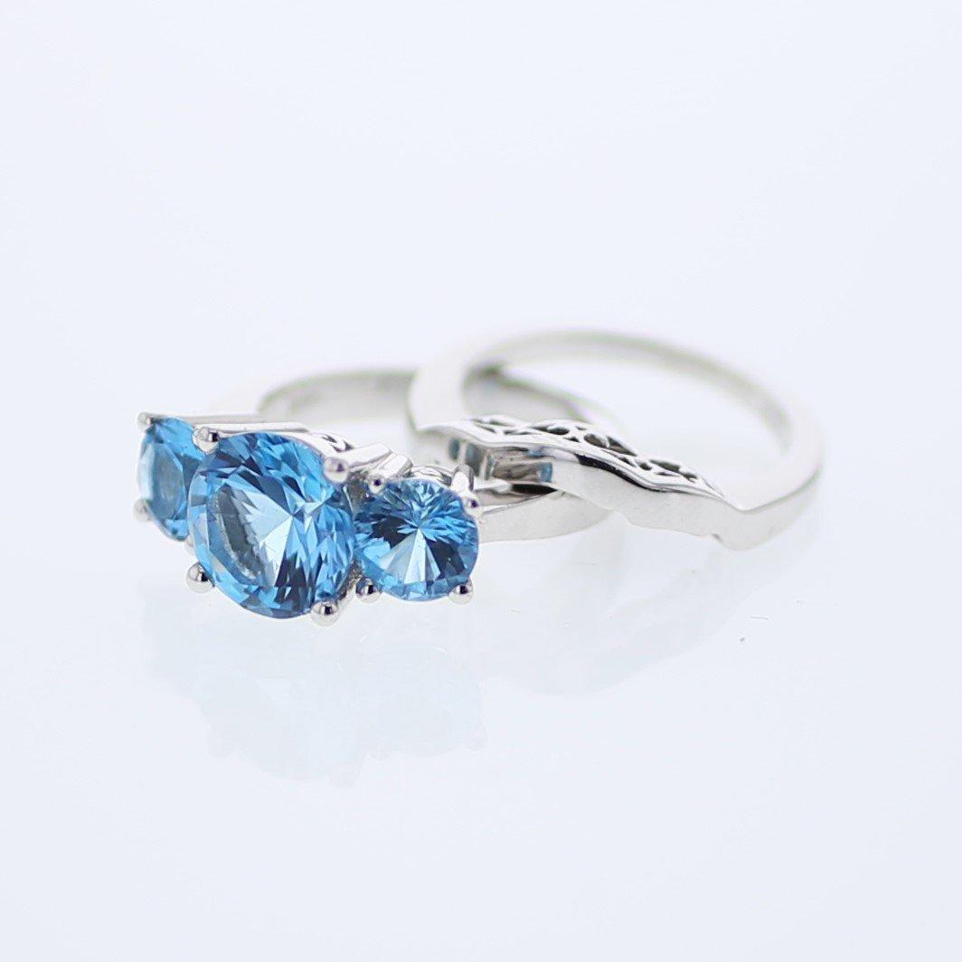 5.03 CTW 14K White Gold Ladies Wedding Ring Set