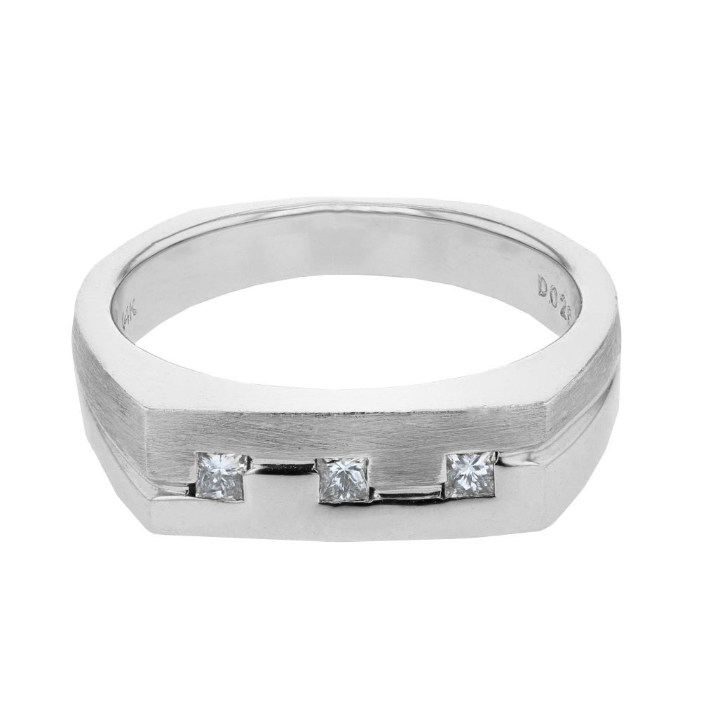 0.26 CTW 14K White Gold Gents Ring