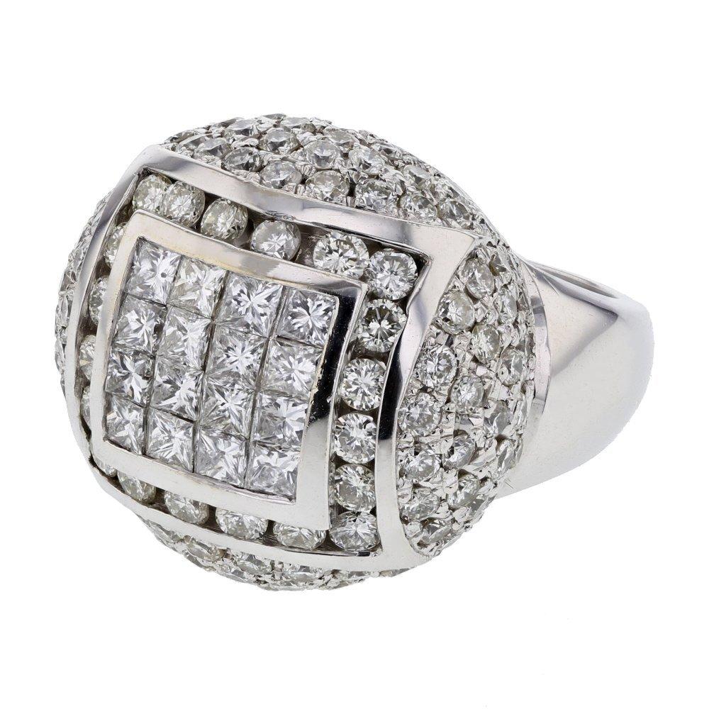 3.37 CTW 18K White Gold Ladies Ring