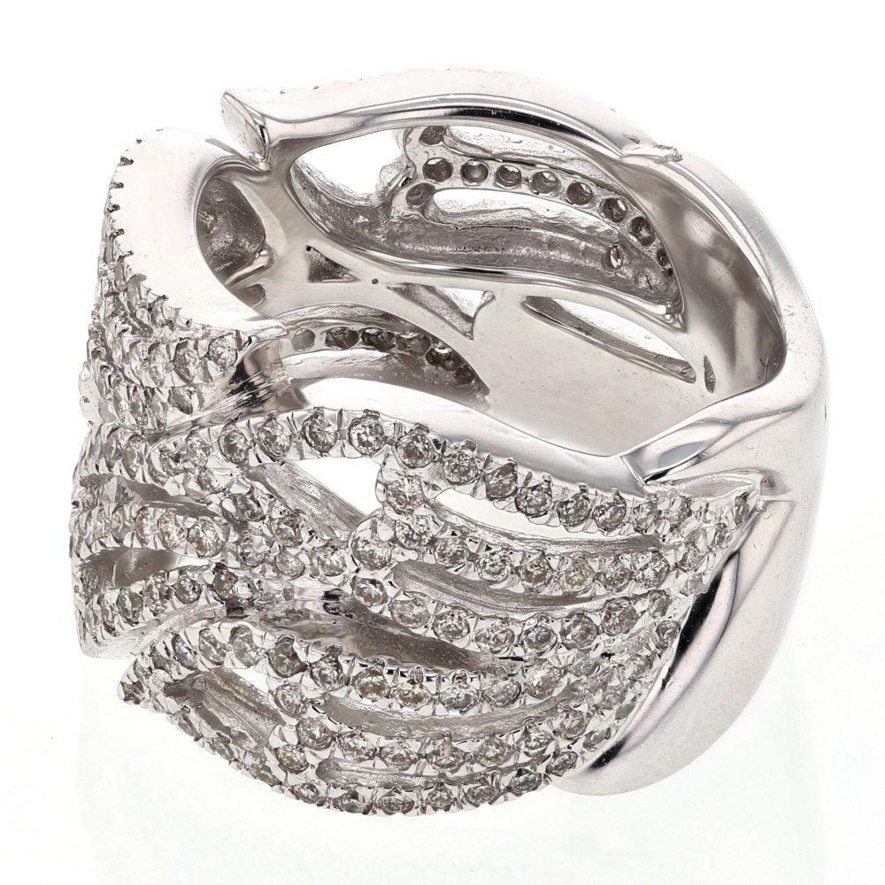 1.38 CTW 14K White Gold Ladies Ring