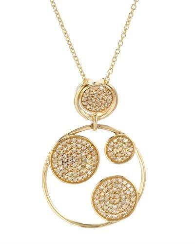 Genuine 0.55 TCW 14K Yellow Gold Ladies Necklace