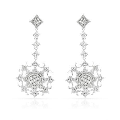 0.32 CTW 14K White Gold Ladies Earring