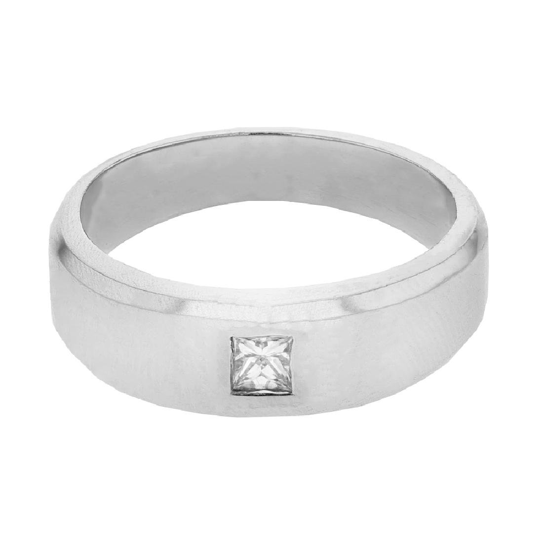 0.15 CTW 14K White Gold Gents Ring