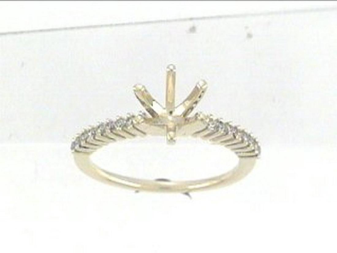 14K Yellow Gold 0.18CTW Diamond Semi Mount Ring