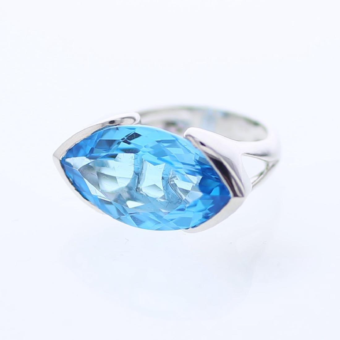 14K White Gold 14.51CTW Topaz Gemstone Rings