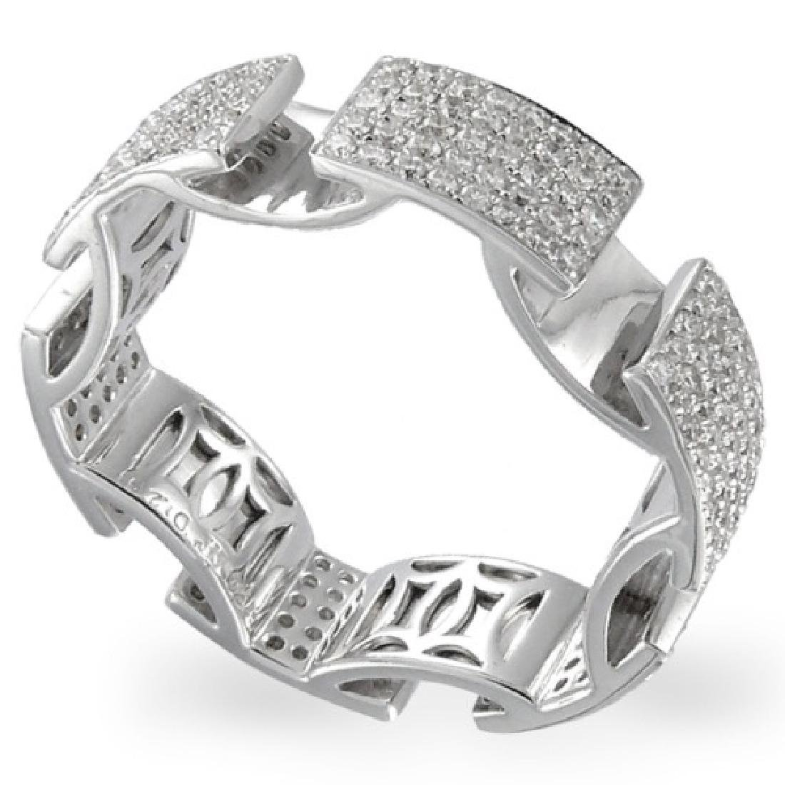 1.09 CTW 14K White Gold Gents Ring