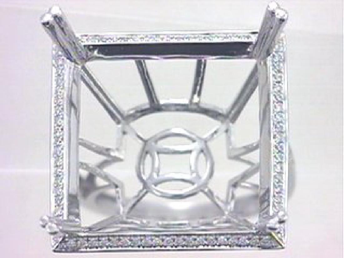 14K White Gold 0.3CTW Diamond Semi Mount Ring
