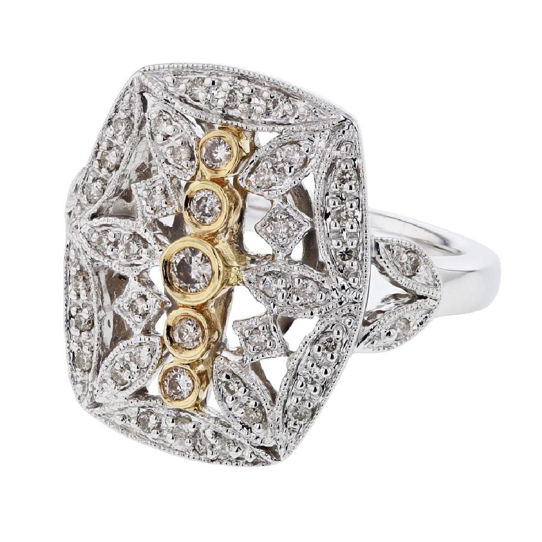 0.4 CTW 14K Two Tone Gold Ladies Ring