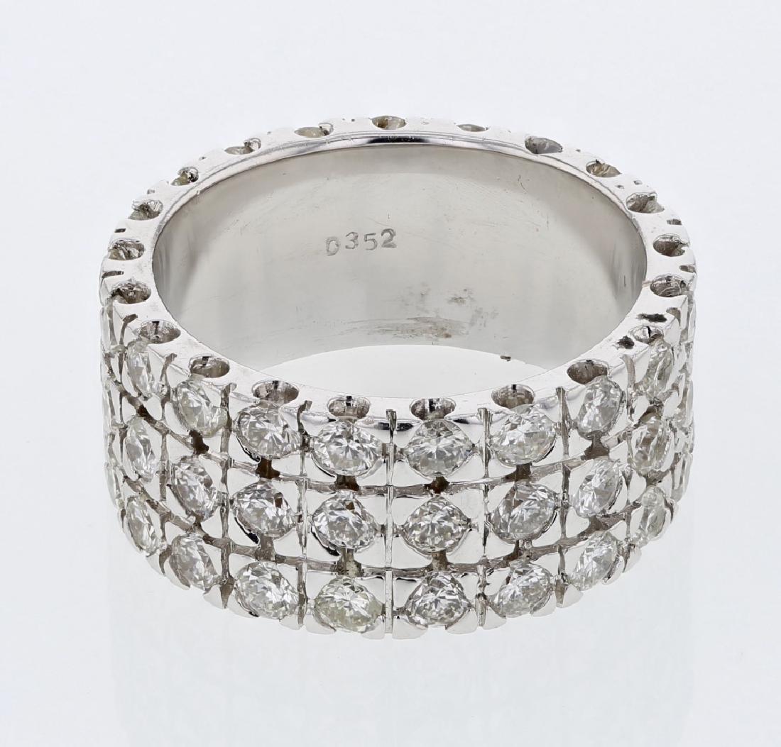 3.52 CTW 18K White Gold Ladies Ring