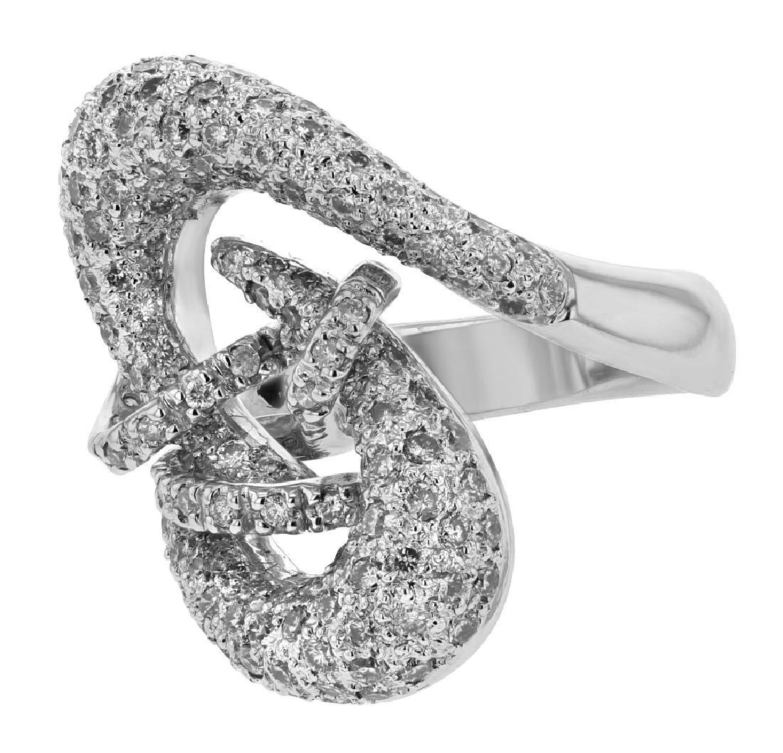 18K White Gold 2.05CTW Diamond Cocktail Ring