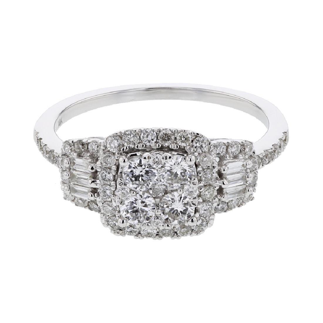 0.87 CTW 14K White Gold Ladies Ring