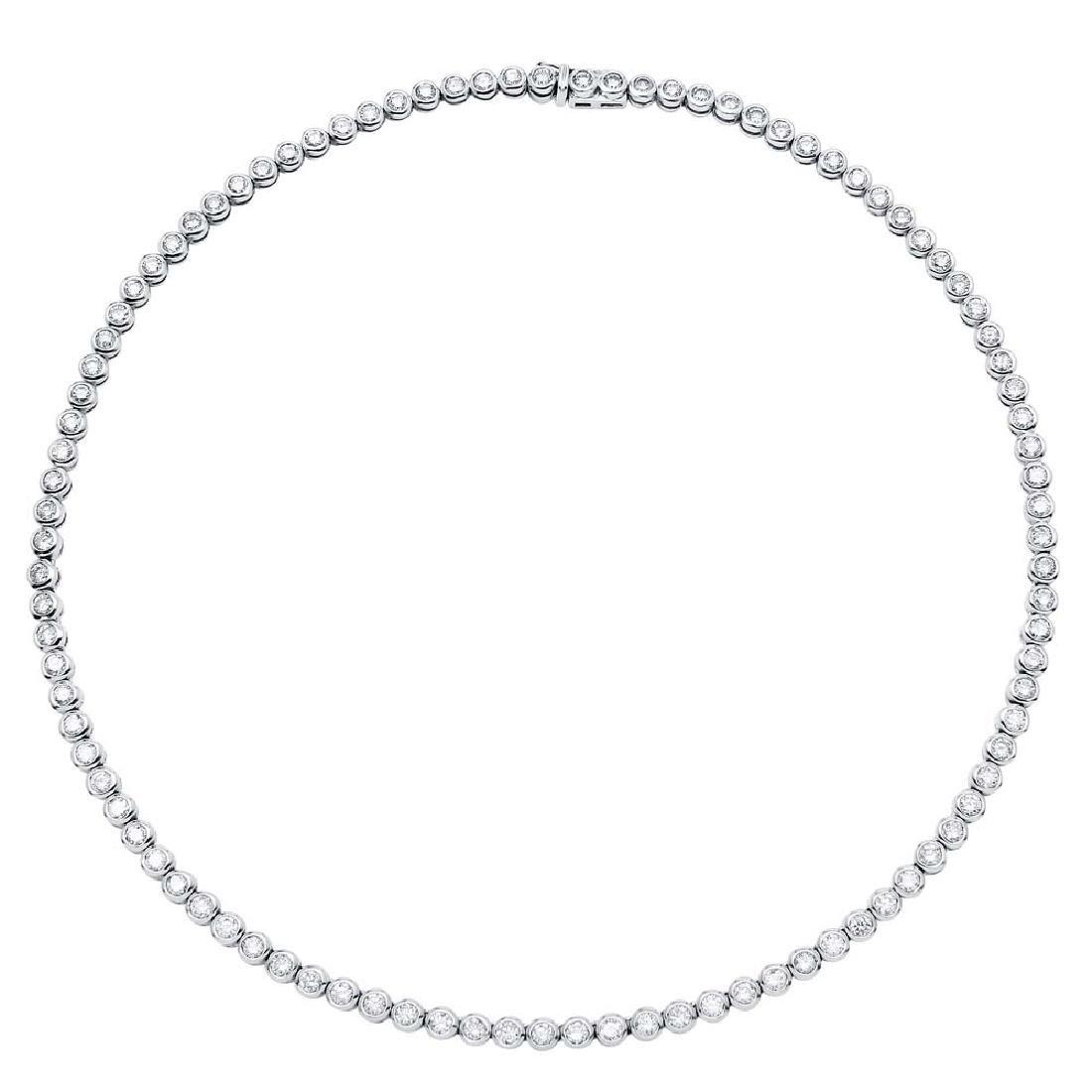 14K Gold 9.57 CTW Diamond Necklace