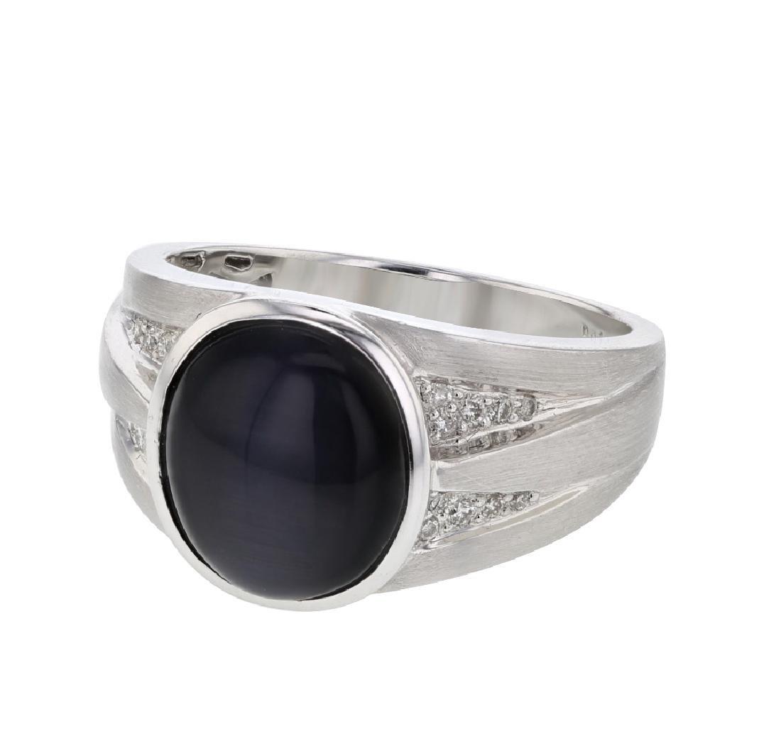 14K WhiteGold 5.18CTW Cat's Eye Fashion Ring