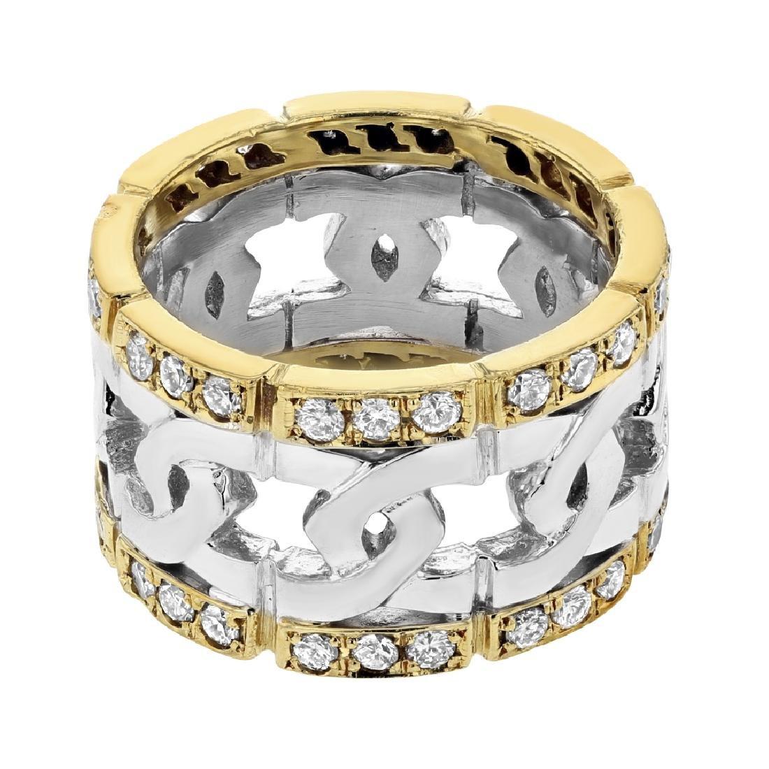 Platinum 0.88CTW Diamond Fashion Ring