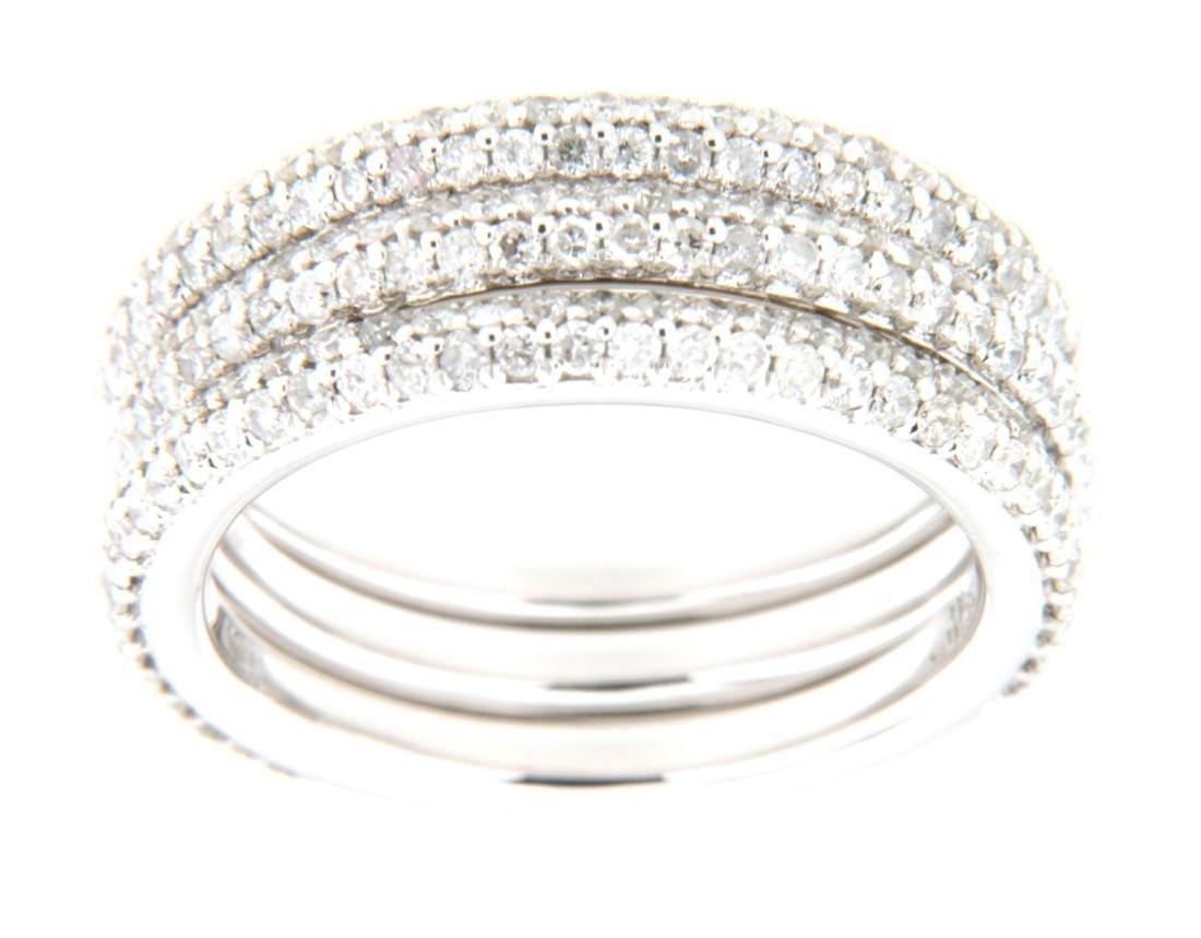 14K White Gold 1.59CTW Diamond Band Ring