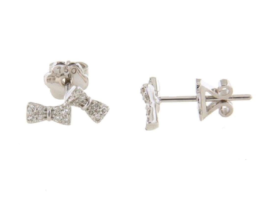 0.2 CTW 18K White Gold Ladies Earring