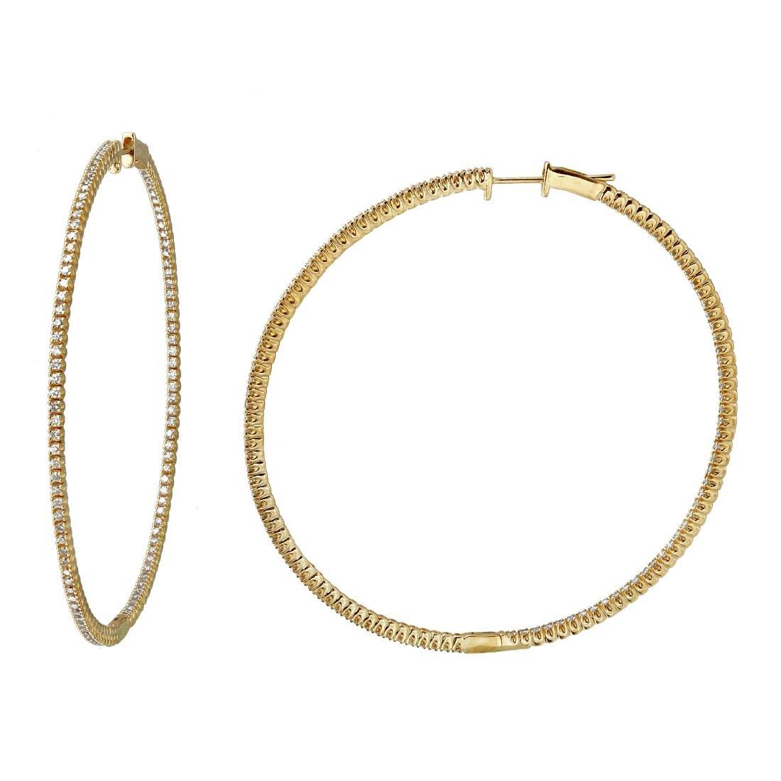 Genuine 1.62 TCW 14K Yellow Gold Ladies Earrings
