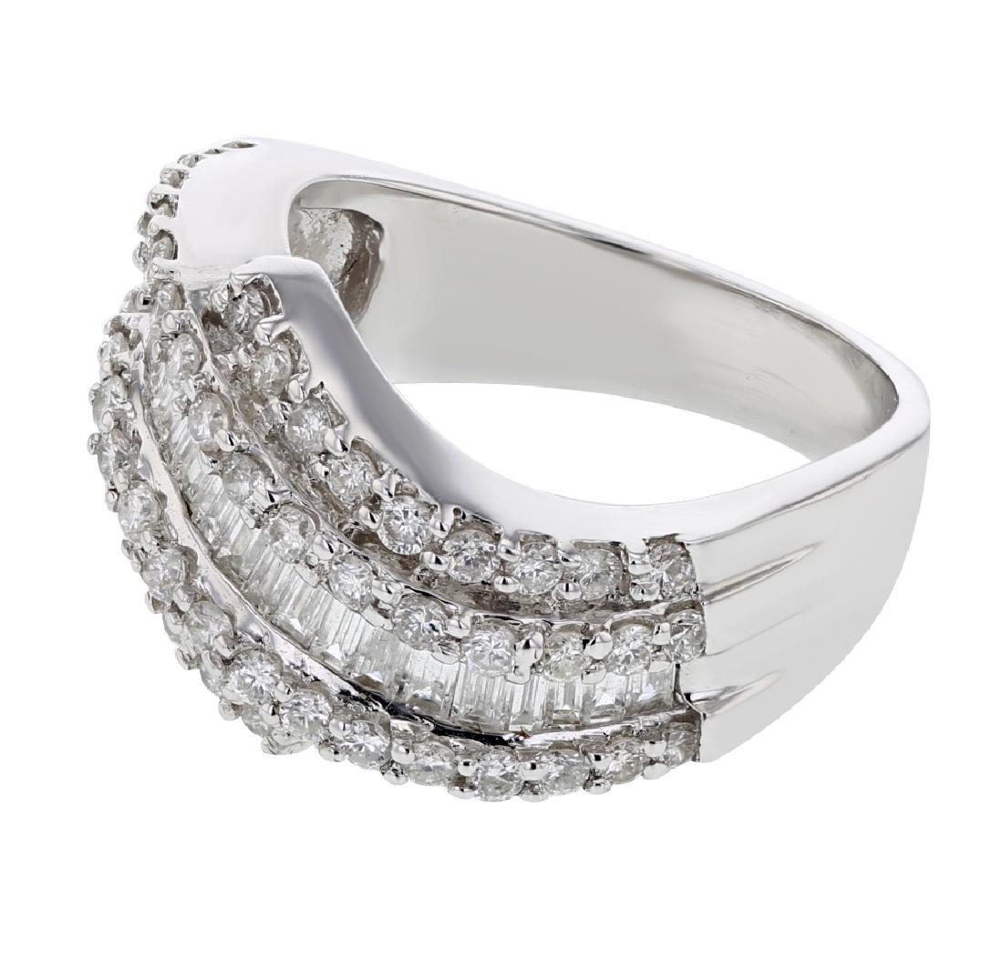 18K WhiteGold 1.46CTW Baguette Fashion Ring