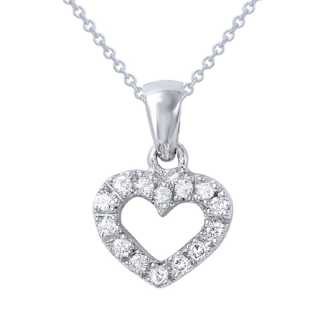 Genuine 0.13 TCW 14K White Gold Ladies Necklace