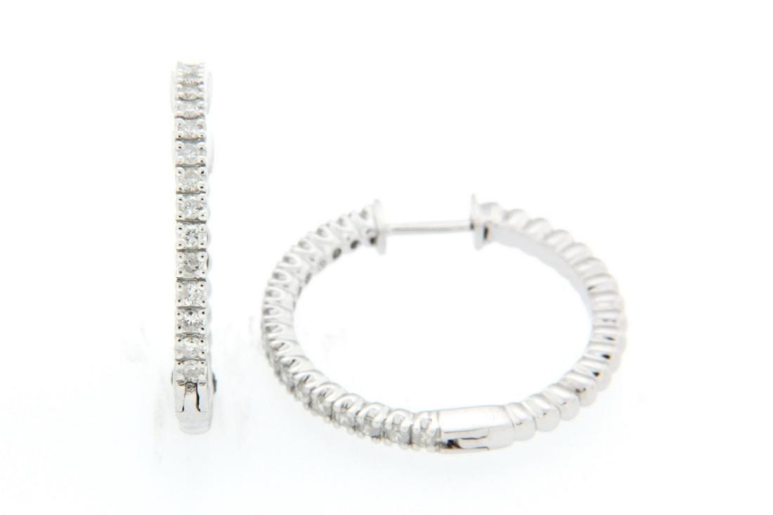 0.54 CTW 14K White Gold Ladies Earring