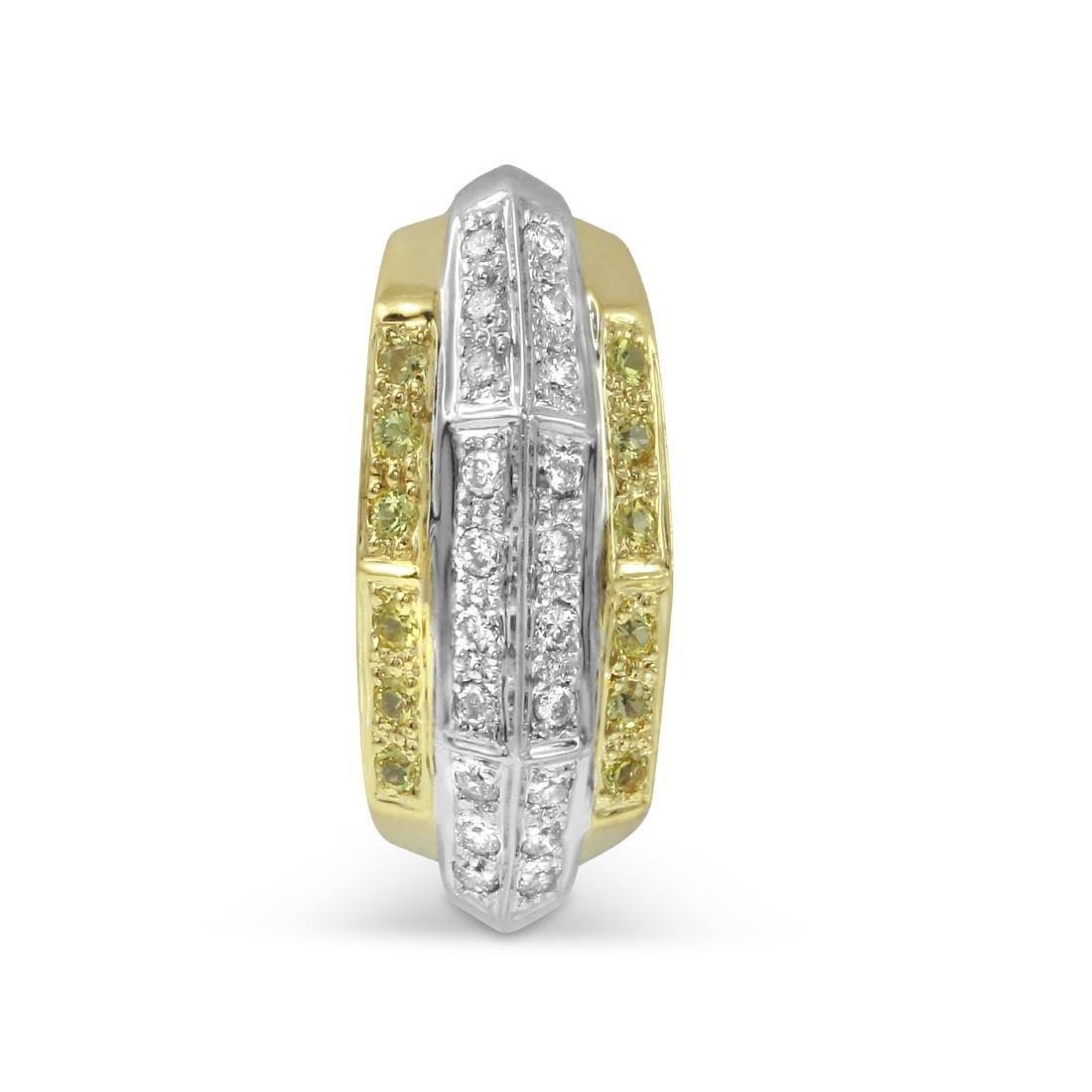 Genuine 0.46 TCW 14K Two Tone Gold Ladies Pendant