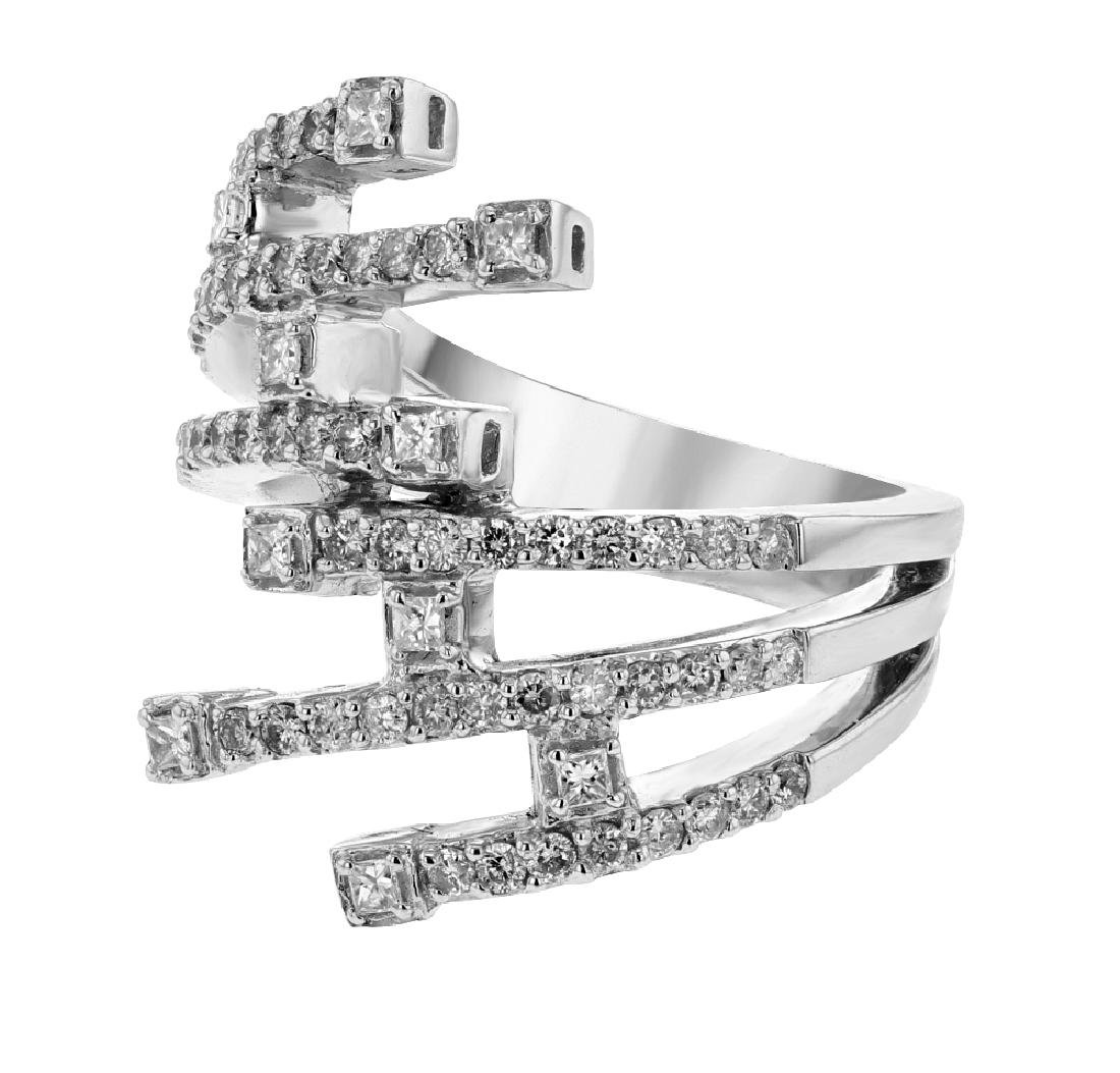 18K White Gold 0.78CTW Diamond Fashion Ring