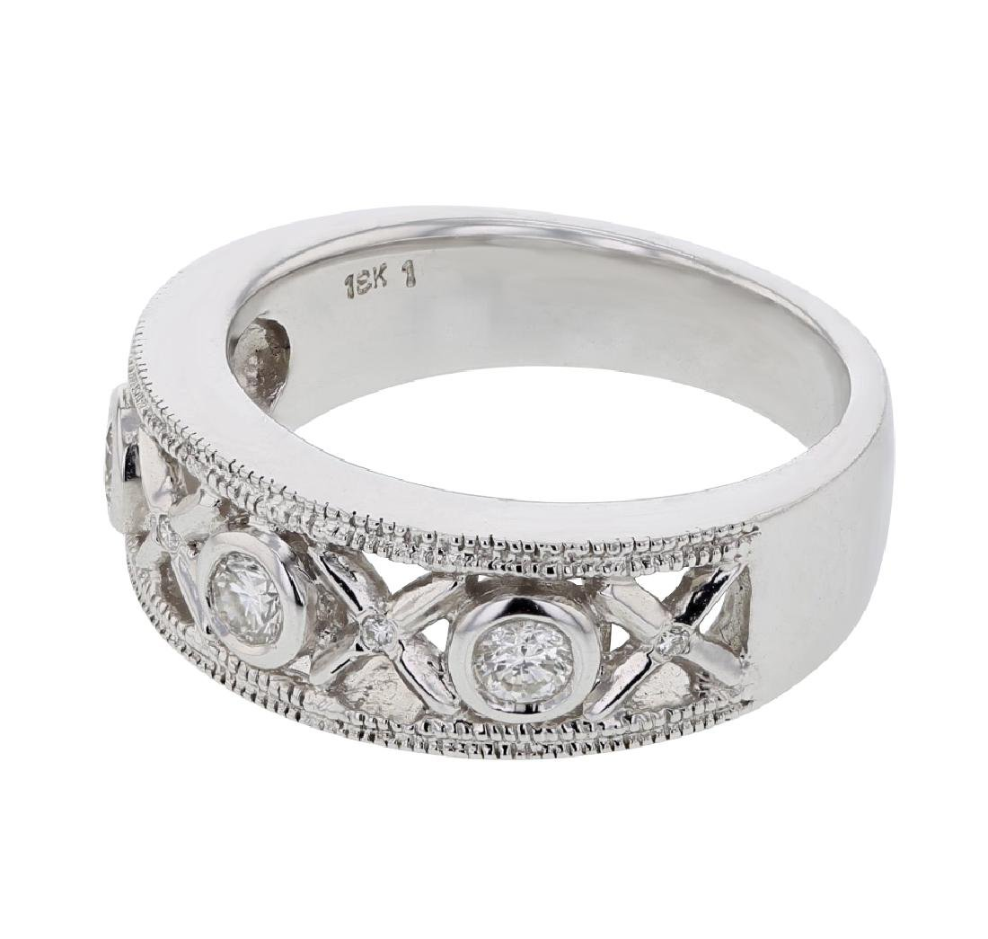 18K White Gold 0.52CTW Diamond Fashion Ring