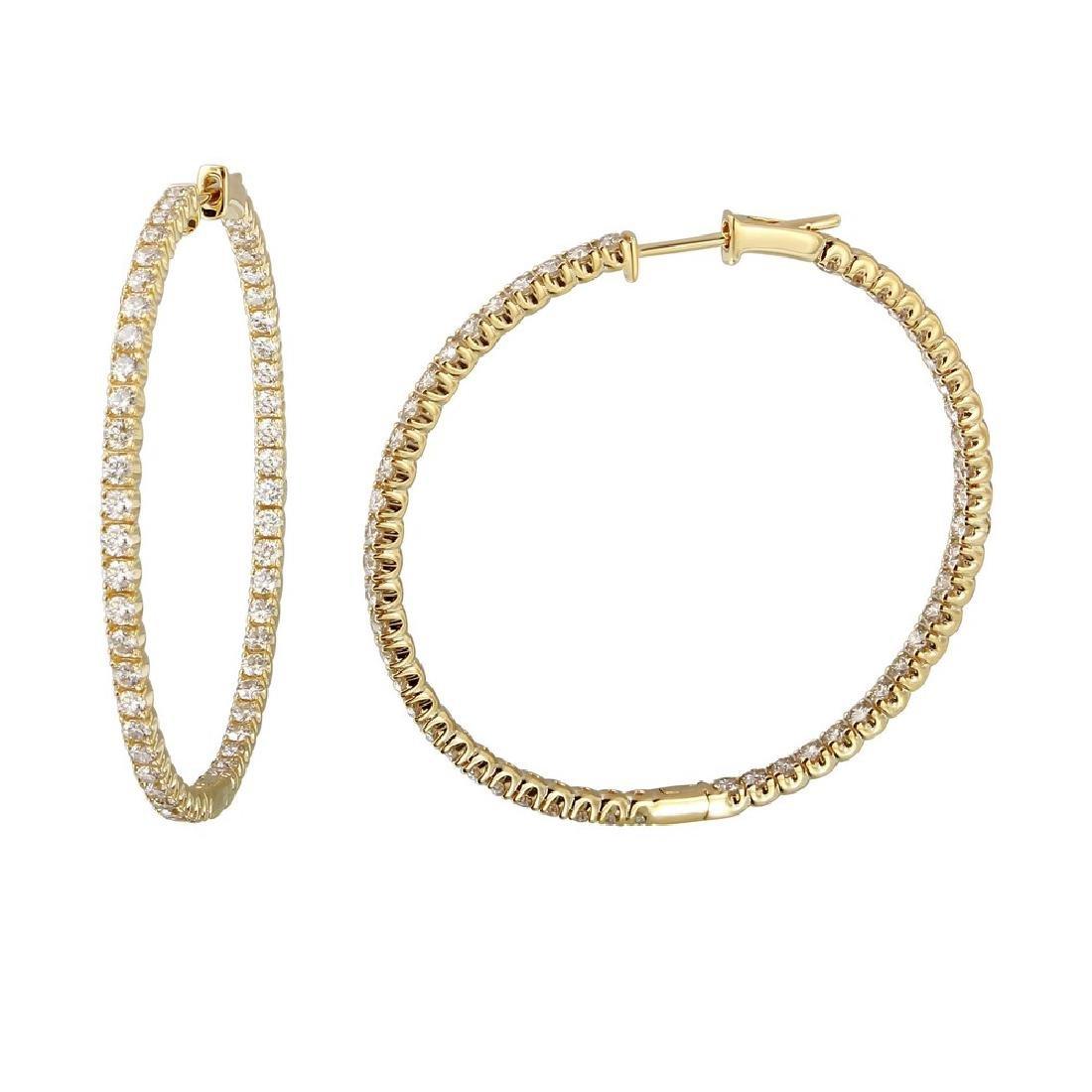 Genuine 2.75 TCW 14K Yellow Gold Ladies Earring