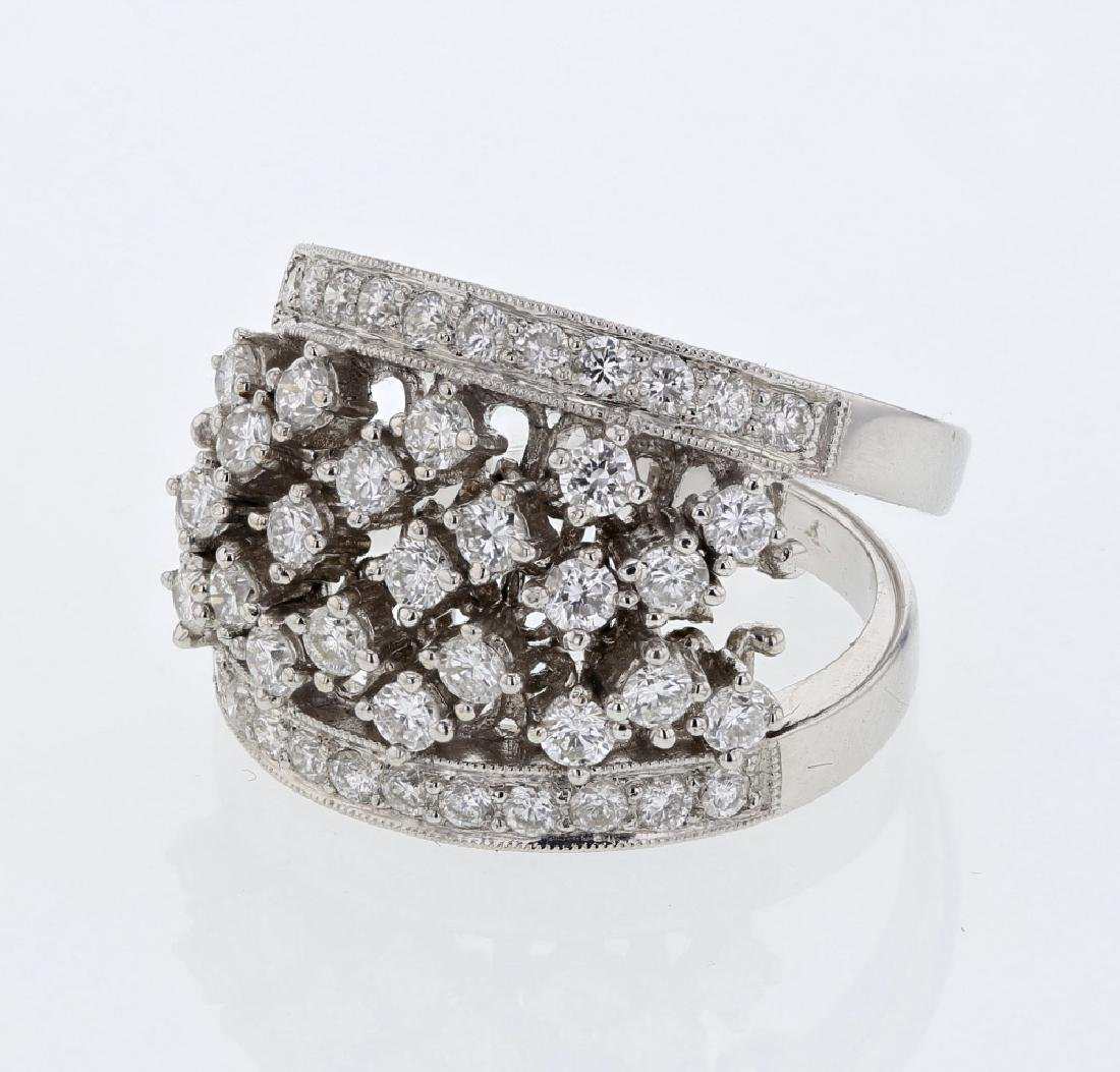 1.29 CTW 18K White Gold Ladies Ring