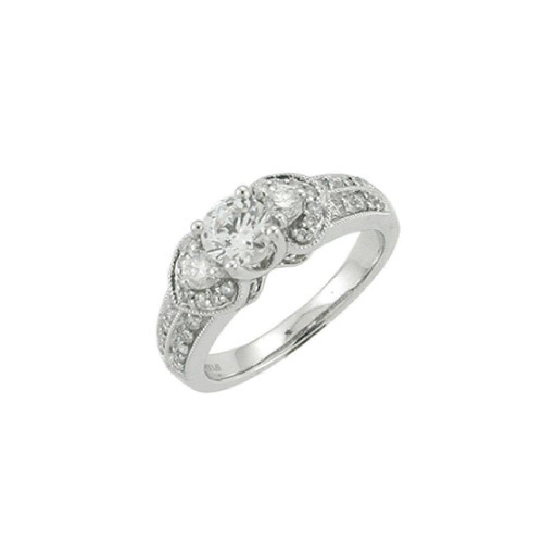 14K White Gold 0.45CTW Diamond Semi Mount Ring