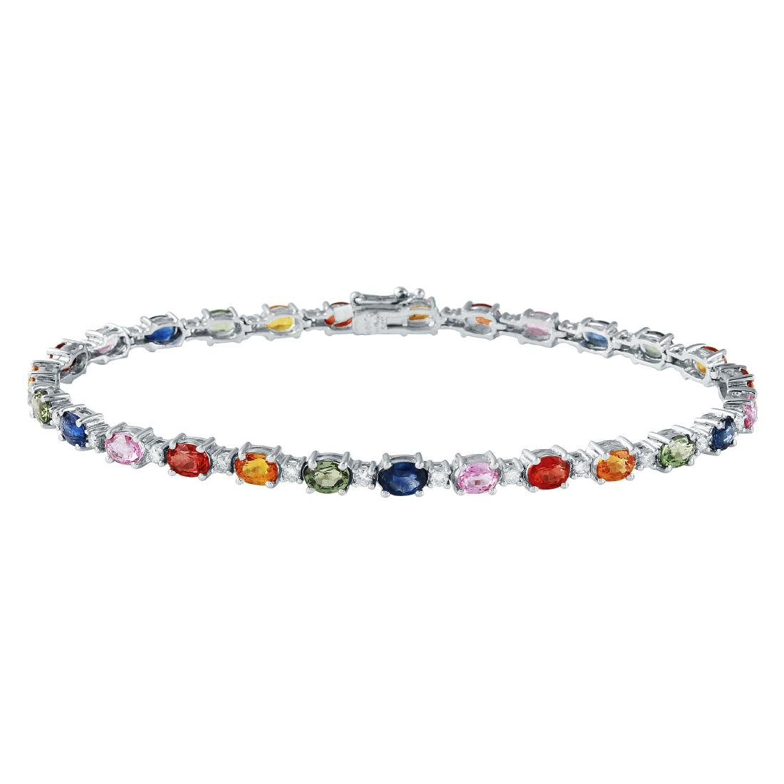 7.8 CTW 14K White Gold Ladies Bracelet