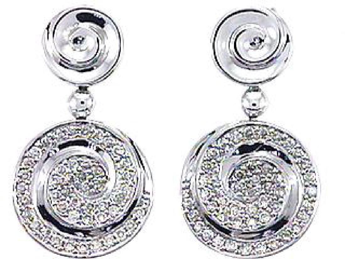 14K White Gold 0.82CTW Diamond Earring