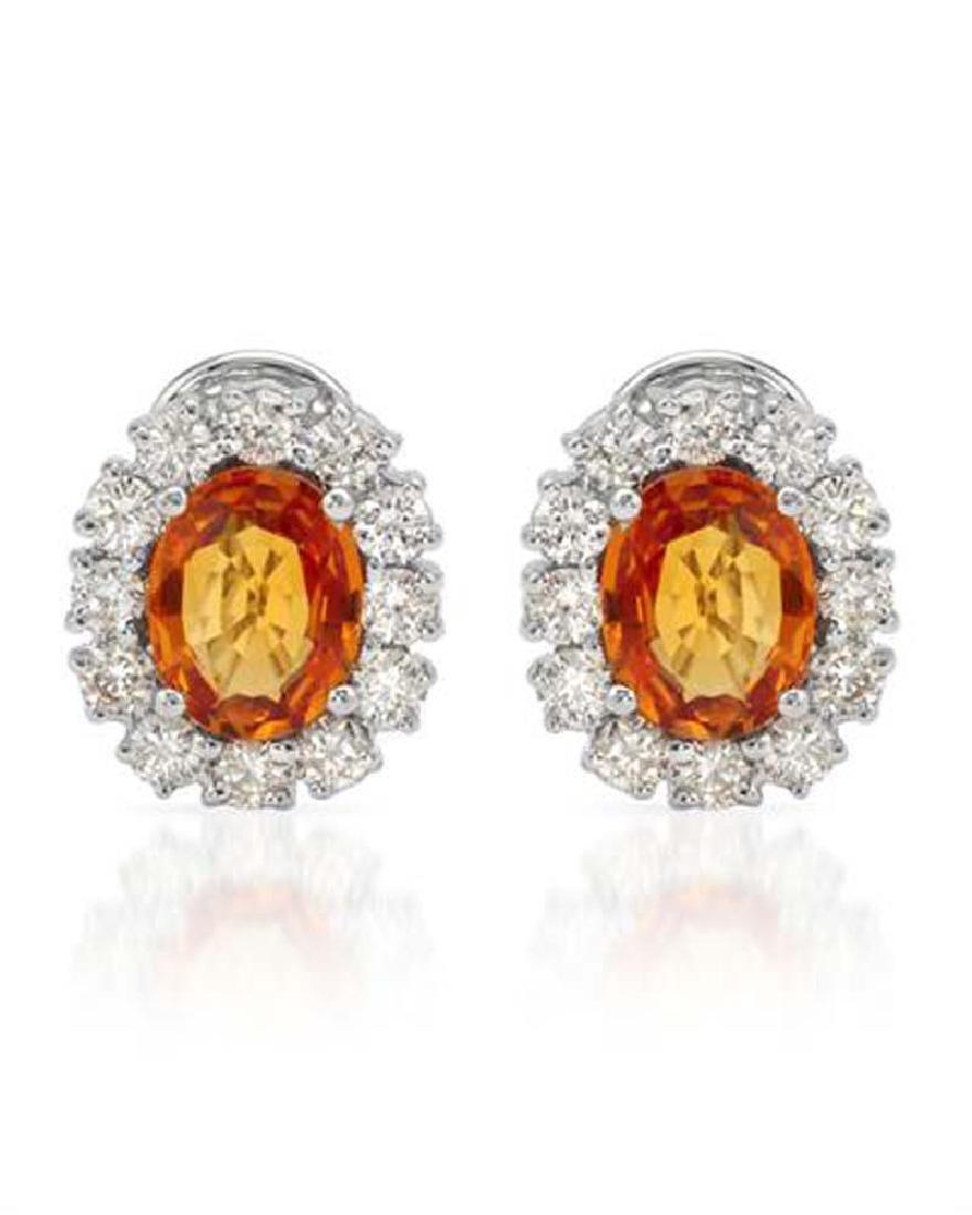 Genuine 1.15 TCW 14K White Gold Ladies Earring