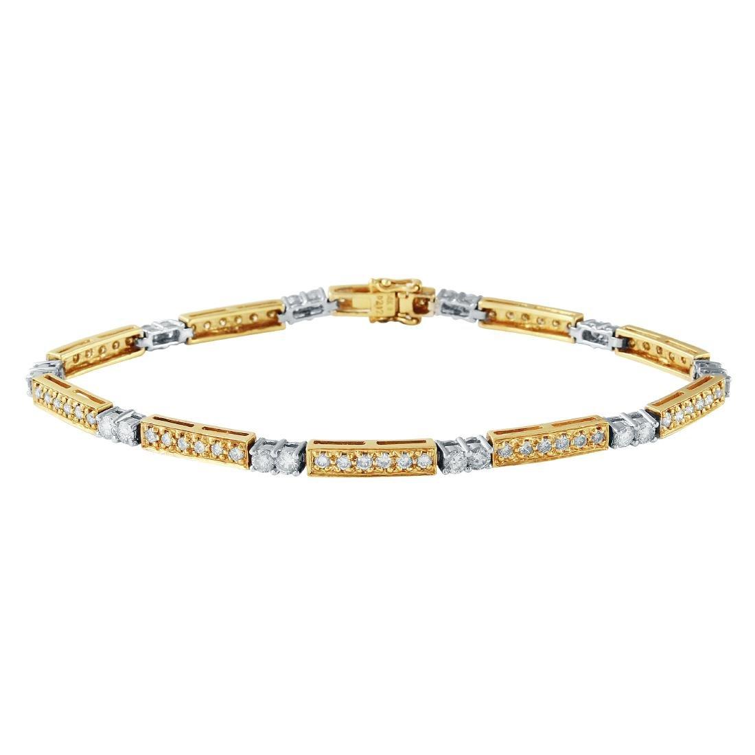 2.12 CTW 14K Two Tone Gold Ladies Bracelet