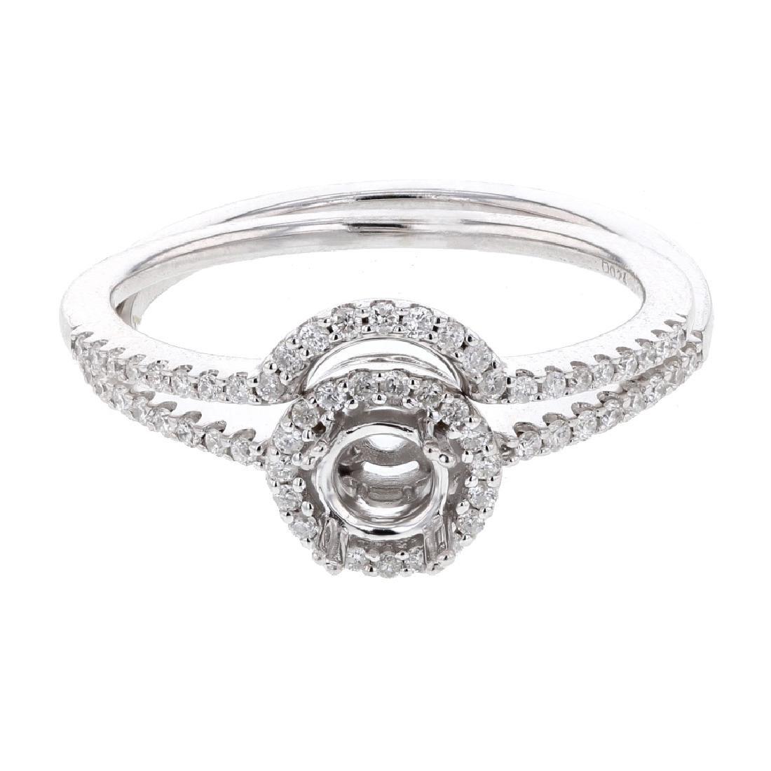 Prong-set Round-cut Diamond Bridal Set in 14K White