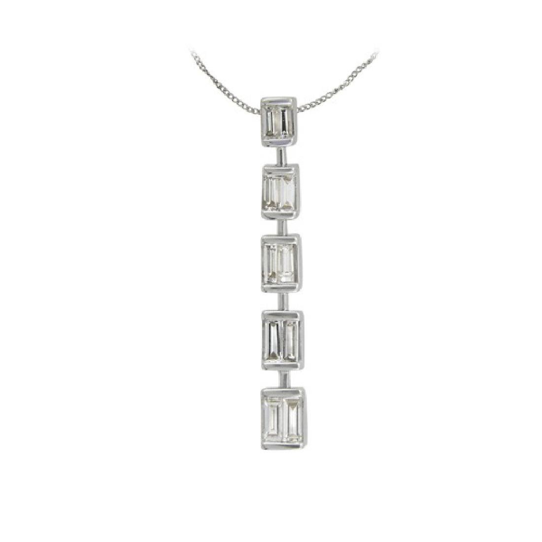 0.5 CTW 14K White Gold Ladies Slider with Chain