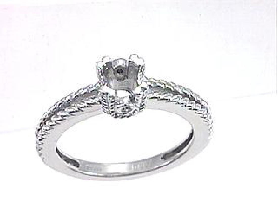 Platinum 0.02CTW Diamond Semi Mount Ring