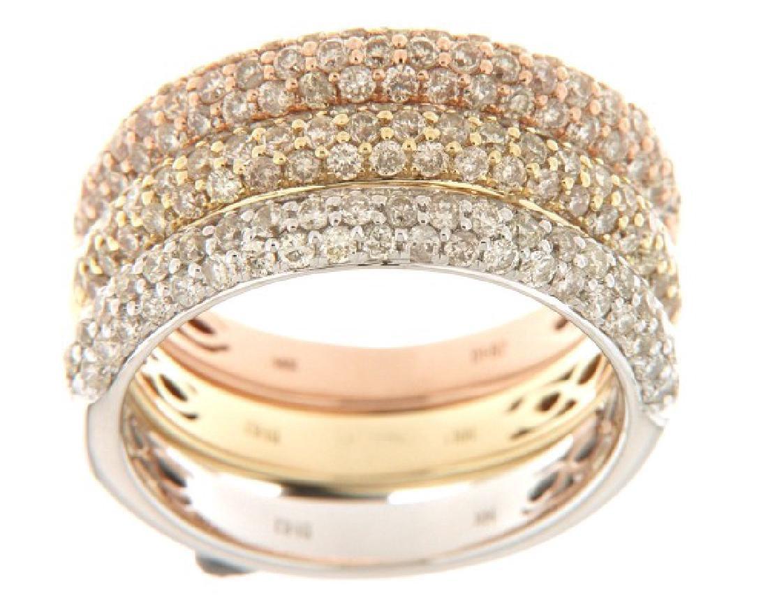 14K White Gold 1.7CTW Diamond Band Ring