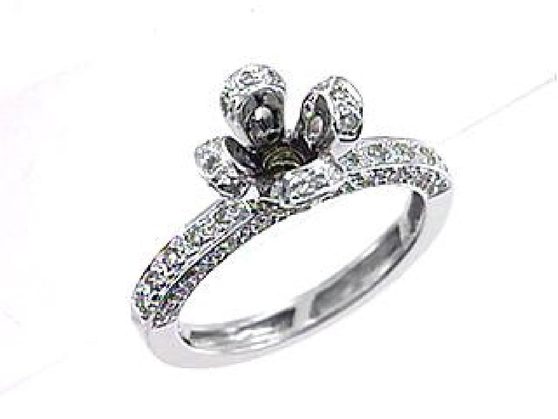 14K Two Tone Gold 0.68CTW Diamond Semi Mount Ring