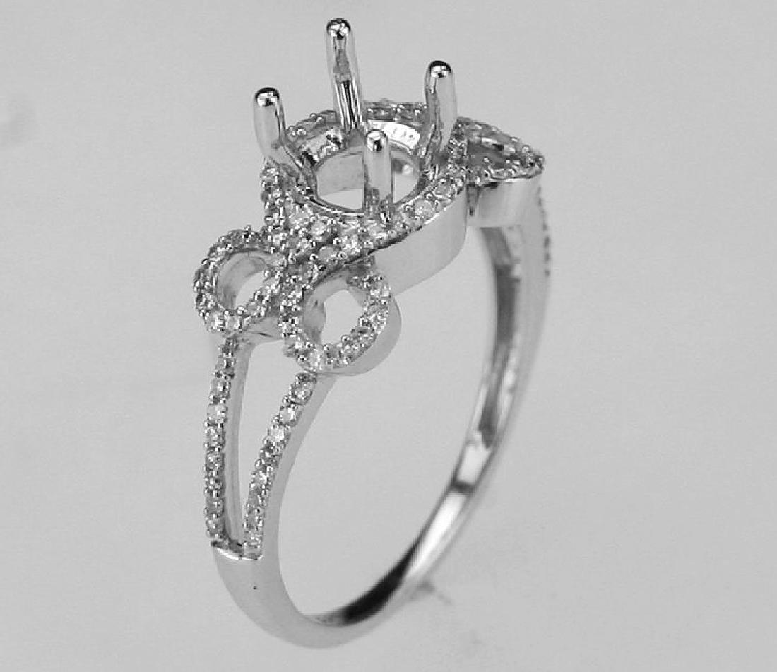 14K White Gold 0.31CTW Diamond Semi Mount Ring