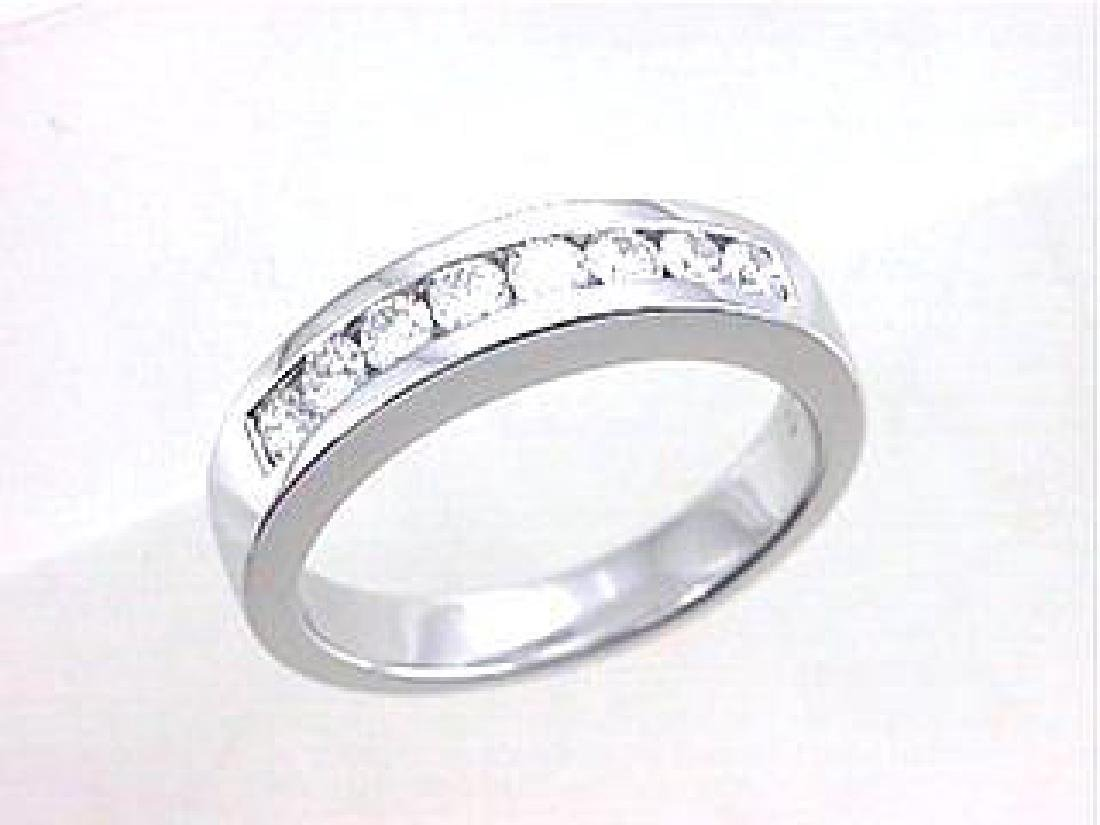 18K White Gold 0.49CTW Diamond Band Ring