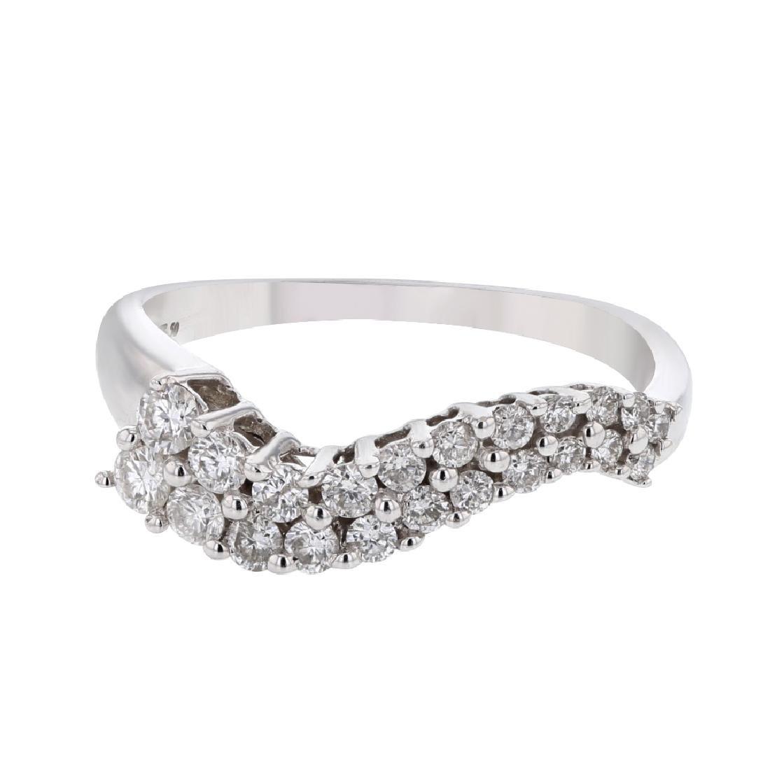 14K White Gold 0.5CTW Diamond Rings
