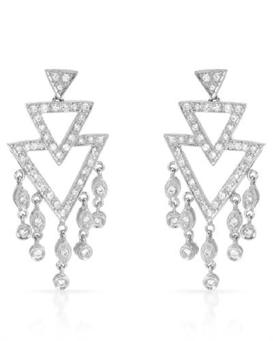18K Gold 0.82 CTW Diamond Earring