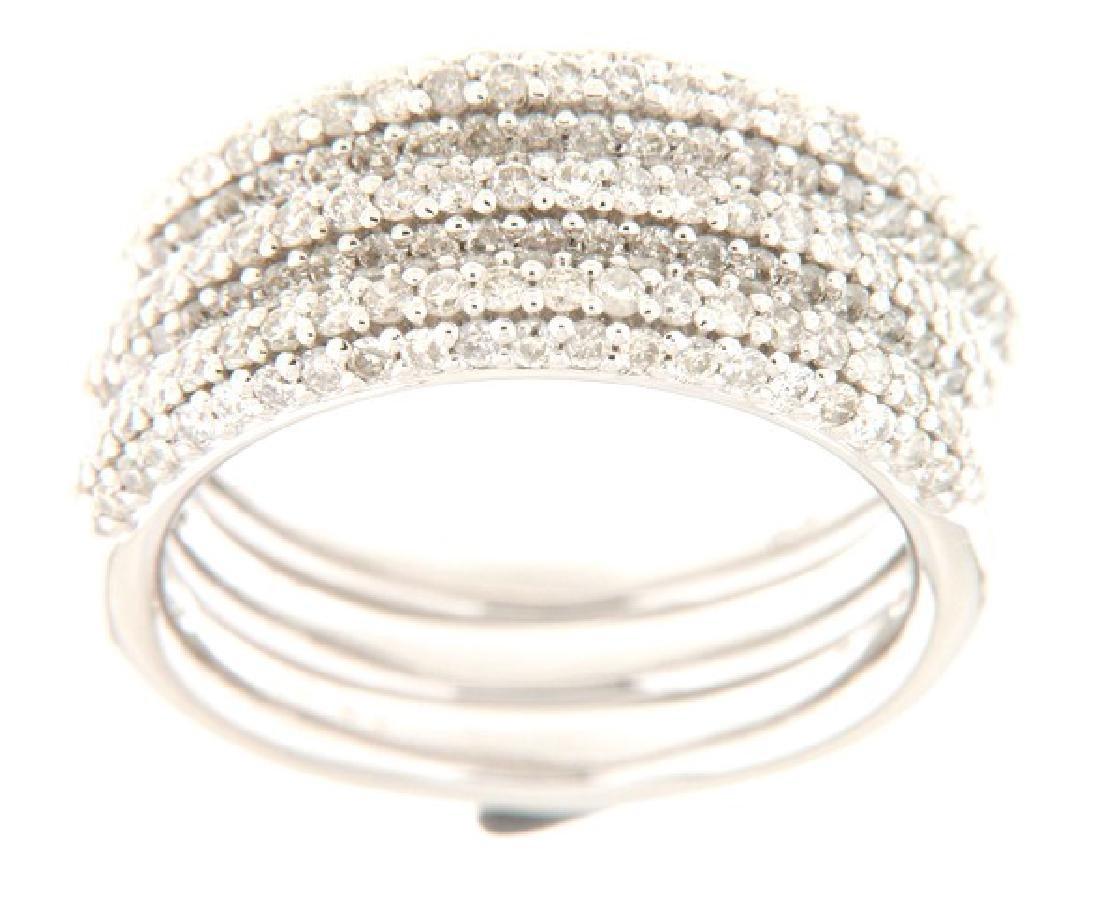 14K White Gold 1.33CTW Diamond Band Ring